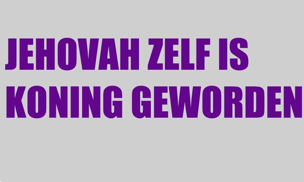 JEHOVAH ZELF IS KONING GEWORDEN Logo